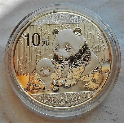 2012 China Panda .999 Silver 1 Troy Oz. 10 Yuan Coin with Mint Air Tight