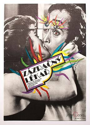 FOREIGN BODY Original Vintage Movie Poster Amazing Abstract 80s Artwork A3 Size