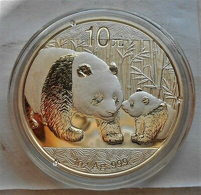 2011 China Panda .999 Silver 1 Troy Oz. 10 Yuan Coin with Mint Air Tight