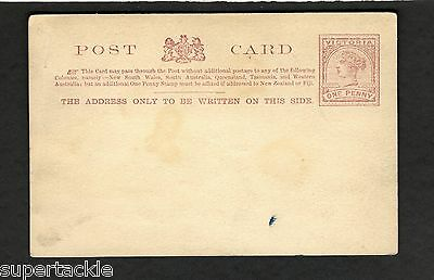 Unused Postal Stationary Post Card Australia  Queen Victoria One Penny