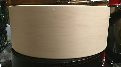 14x5.25 3ply maple / poplar / maple snare drum shell by erie drums