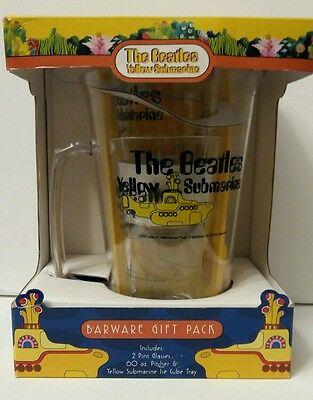 MISB Beatles Yellow Submarine Barware : Pitcher, Ice cube tray, 2x Pint glass