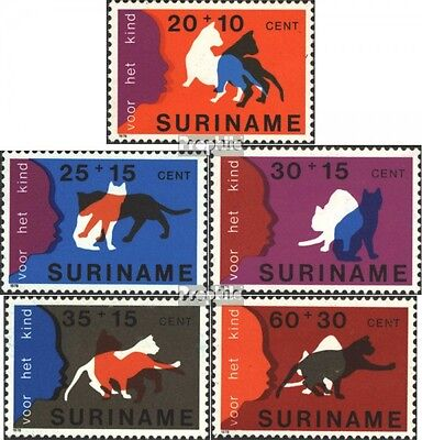 Suriname 844-848 (complete issue) unmounted mint / never hinged 1978 Youth