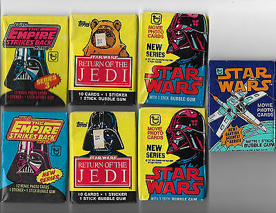 Lot Of 30 Star Wars Sealed Wax And Foil Packs 1977-1999