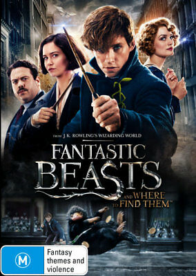 Fantastic Beasts And Where To Find Them DVD R4 Brand New!