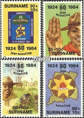 Suriname 1094-1097 (complete issue) unmounted mint / never hinged 1984 Scouts