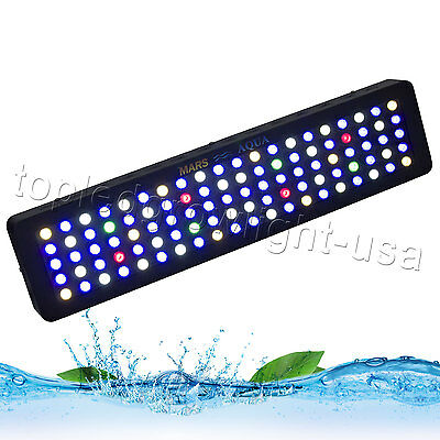 Dimmable MarsAqua 300W LED Aquarium Light Panel Full Spectrum Coral Reef Tank