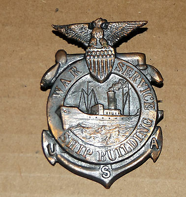WWI War Service Ship Building Serial Numbered I.D. Badge