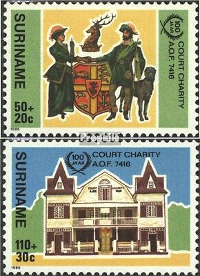 Suriname 1183-1184 (complete issue) unmounted mint / never hinged 1986 Court Cha