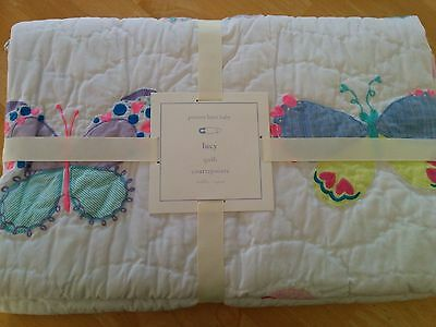 POTTERY BARN KIDS Lucy Butterfly Nursery Baby Toddler Crib Quilt NWT