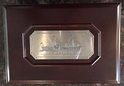 Ss Republic Wooden Coin Display Case Excellent Condition