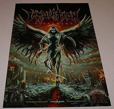 """Immolation Atonement 11"""" x17"""" Rare Publicity Poster New Ships Rolled Death Metal"""