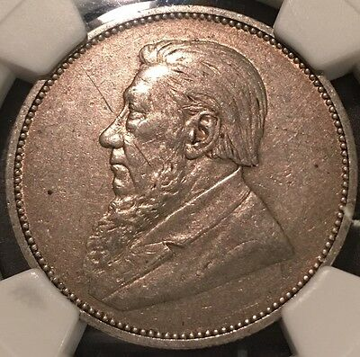 1896 South Africa 2 Shillings NGC XF Large Foreign Silver Coin
