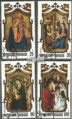 Togo 1010A-1013A (complete issue) used 1973 christmas: Painting
