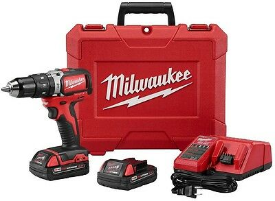 Milwaukee M18 18-Volt 1/2 in. Cordless Compact Brushless Hammer Drill/Driver Kit