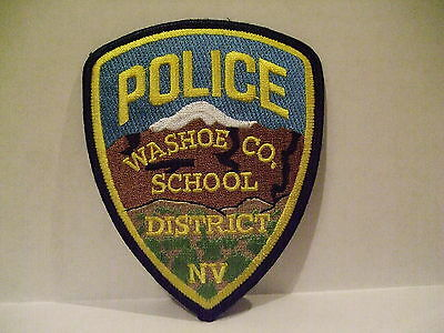 police patch  WASHOE COUNTY SCHOOL DISTRICT POLICE NEVADA