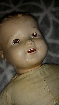 Vintage circa1930 American Character Composition Doll Baby Antique 18""