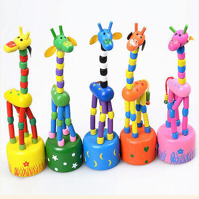 Funny Baby Kids Intellectual Developmental Educational Wooden Giraffe Toy Gift