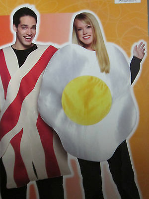 One Size Fits Most  Adults Bacon & Eggs Halloween Costumes New Pack, 2 Costumes