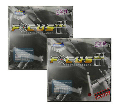 2x RITC729 FOCUS3 Snipe Pips-In Table Tennis Rubber/Sponge Sheets, New