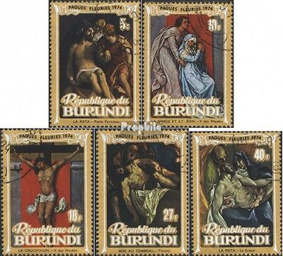 Burundi 1029A-1033A (complete issue) used 1974 Easter: Painting