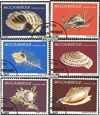 Mozambique 779-784 (complete issue) used 1980 Snails
