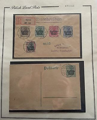 Poland Polish Local Posts Two Cover For Description Look At The Picture