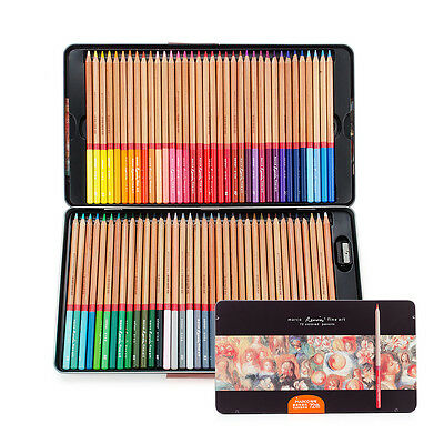 Marco Renoir Fine Art Colored Pencils 72 Coloring Pencil Set+ Rich Gift For Art