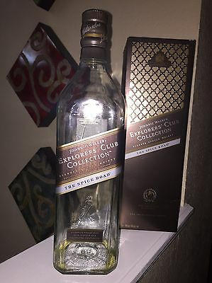 Empty Bottle of Johnnie Walker Explores ' Club with box