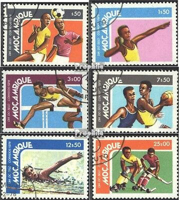 Mozambique 670-675 (complete issue) used 1978 Day the Stamp - S