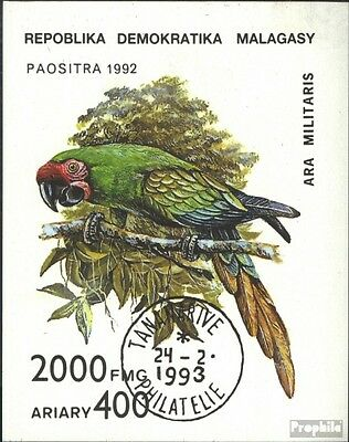 Madagascar block209 (complete issue) used 1993 Parrots