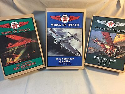 Wings of Texaco Series; 1929 Lockheed; 1932 Northrop Gamma; 1931 Stearman