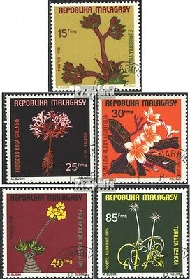 Madagascar 748-752 (complete issue) used 1975 Locals Flowers