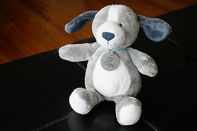 PLUSH Baby Toy Carters My First Puppy Light Gray White Dog Stuffed Animal Lovey