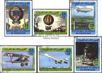 Mauritania 777-782 (complete issue) used 1982 Flights a Montgol