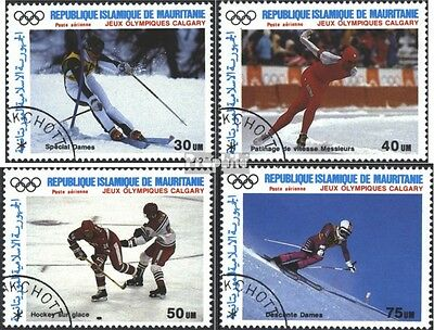 Mauritania 912-915 (complete issue) used 1988 Gold Medalists