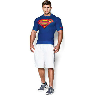 Under Armour Alter Ego Compression Hommes Seconde Peau - Superman Royal Blue