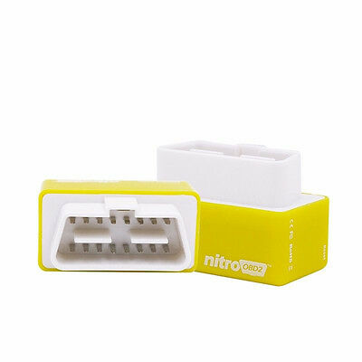 Universal Car Nitro OBD2 Chip Tuning Box Interface Plug and Drive Yellow 1 set