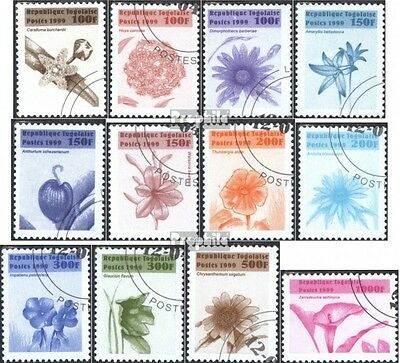 Togo 2830-2841 (complete issue) used 1999 clear brands: Flowers