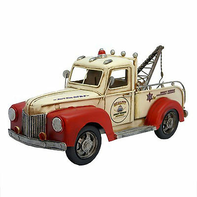 TOW TRUCK VINTAGE  REPLICA MODEL,HAND MADE,PAINT ,DETAIL,    30cm