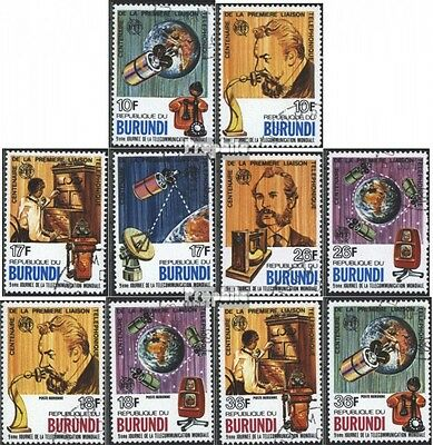 Burundi 1316A-1325A (complete issue) used 1977 100 years Phone
