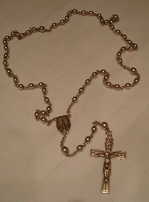 Gorgeous Sterling Silver Rosary -signed