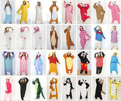 Hot Adult Unisex Kigurumi Pajamas Animal Cosplay Costume  Sleepwear Gifts+