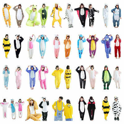 Hot Unisex Suit Adult Pajamas Kigurumi Cosplay Costume Animal Onesie Sleepwear++