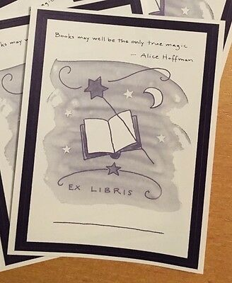 Alice Hoffman Bookplates 7 Decorative Labels by Carly's Wish Foundation