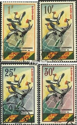Togo 304-307 (complete issue) used 1961 crown cranes in Flights