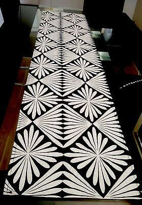Black And White Table Runner( Indoor/ Outdoor )