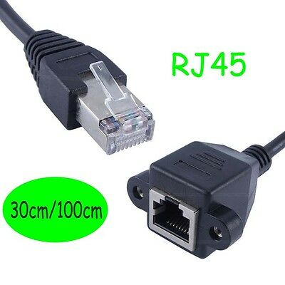 RJ45 1Male to 2Female Port Ethernet Network Cable Splitter Extension ConnectorQP