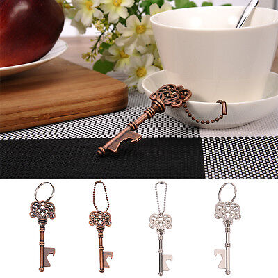 Metal Beer Bottle Opener Key-shape Ring Chain Keyring Keychain Bar Small Tools