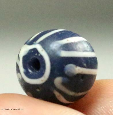 Native American A Speo Venetian Old Trade Bead Indian Artifact NY 1600's 12x13mm
